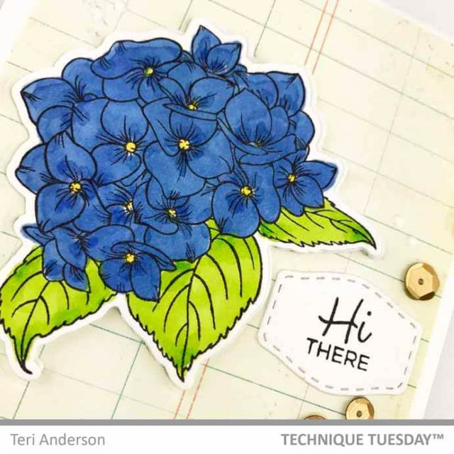 Hi-Friend-Label-Flower-Card-Close-2-Teri-A-Technique-Tuesday