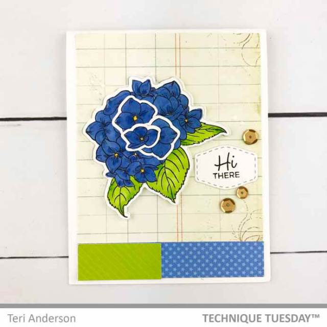 Hi-Friend-Label-Flower-Card-Teri-A-Technique-Tuesday