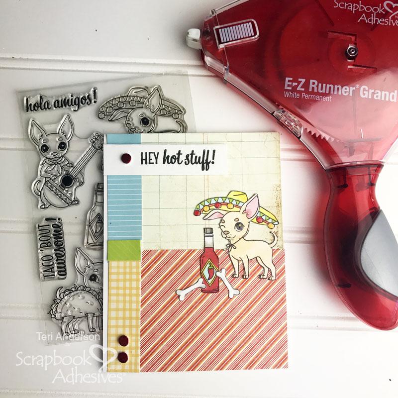 Hey Hot Stuff stamped card by Teri | terisplace.wordpress.com