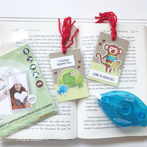 DIY stamped bookmarks by Teri for Scrapbook Adhesives by 3L