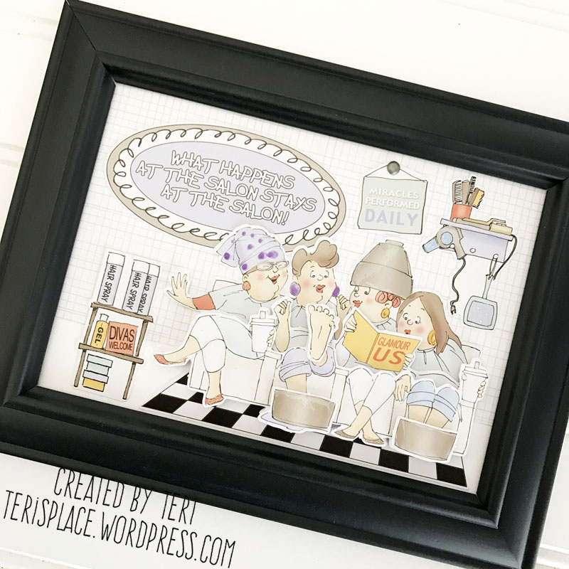 A frame for a hairdresser by Teri | teriplace.wordpress.com