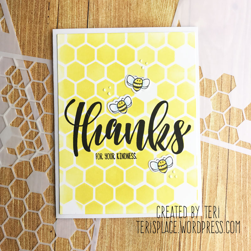 A stamped thank you card by Teri | terisplace.wordpress.com
