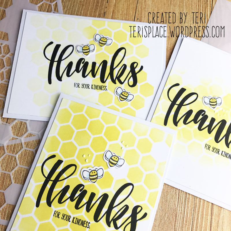 Stamped Thank You cards by Teri | terisplace.wordpress.com