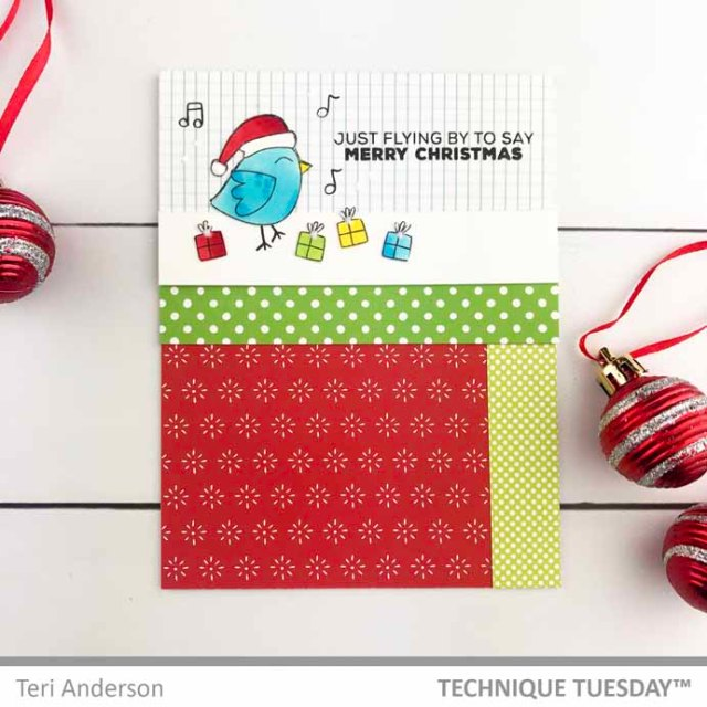 A stamped Christmas card by Teri | terisplace.wordpress.com