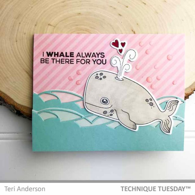 Pink-Whale-Always-Love-You-Card-Teri-A-Technique-Tuesday