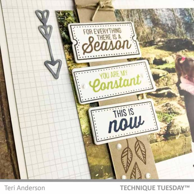 A scrapbook page by Teri for Technique Tuesday | terisplace.wordpress.com