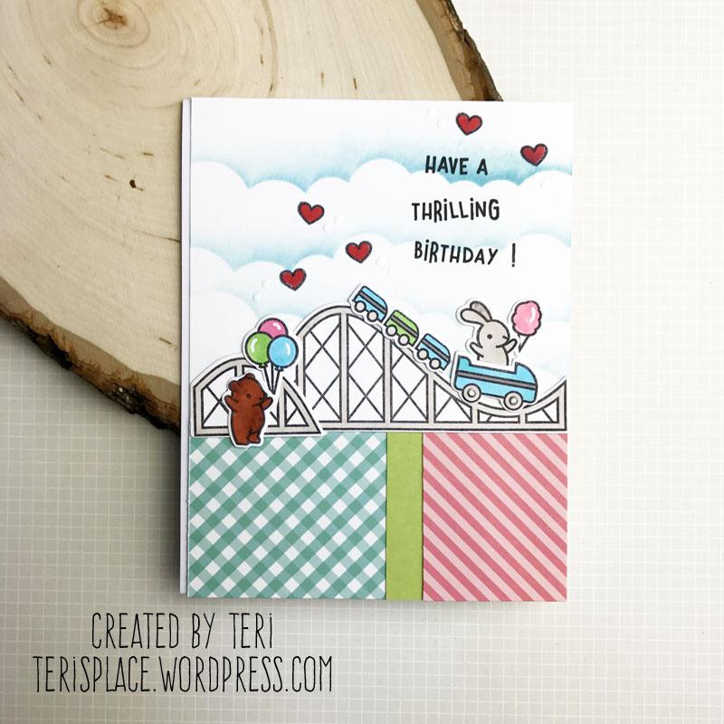 A stamped birthday card by Teri | terisplace.wordpress.com