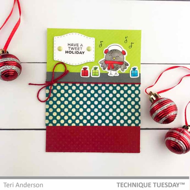 Tweet-Holiday-Bird-Card-Teri-A-Technique-Tuesday