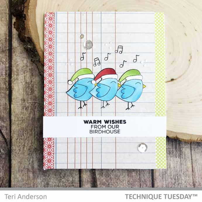 Warm-Wishes-Bird-Trio-Card-Teri-A-Technique-Tuesday