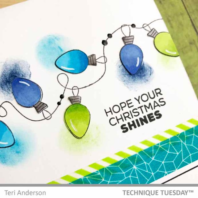 Green-Blue-Bulbs-Card-Close-Teri-A-Technique-Tuesday
