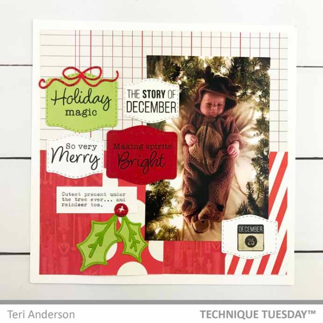 Holiday-Magic-Scrapbook-Page-Teri-A-Technique-Tuesday