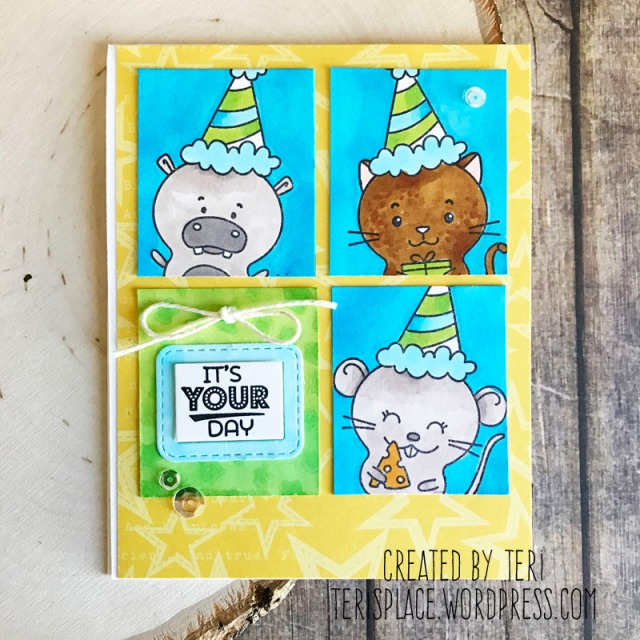 A stamped birthday card by Teri featuring Taylored Expressions stamps | Terisplace.wordpress.com