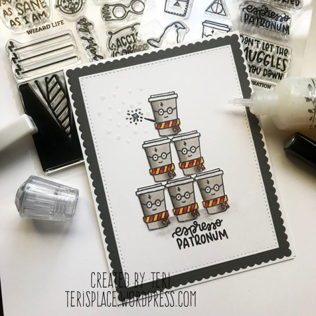 A coffee wizard stamped card by Teri | terisplace.wordpress.com