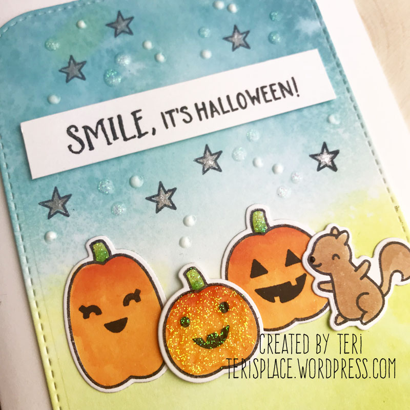 A stamped Halloween card by Teri | terisplace.wordpress.com