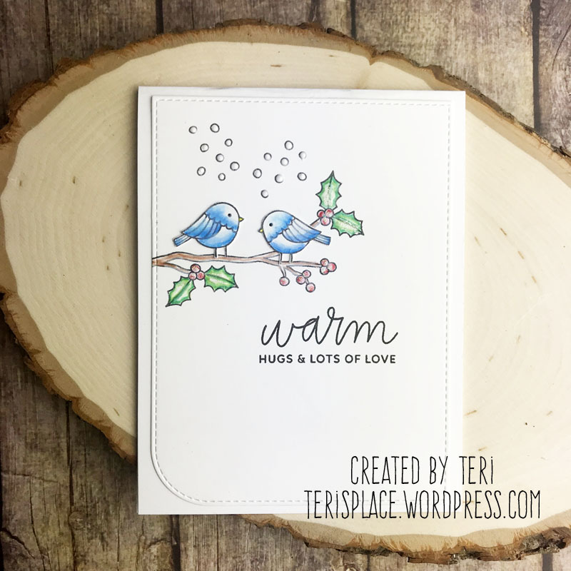 A handmade Christmas card by Teri | terisplace.wordpress.com