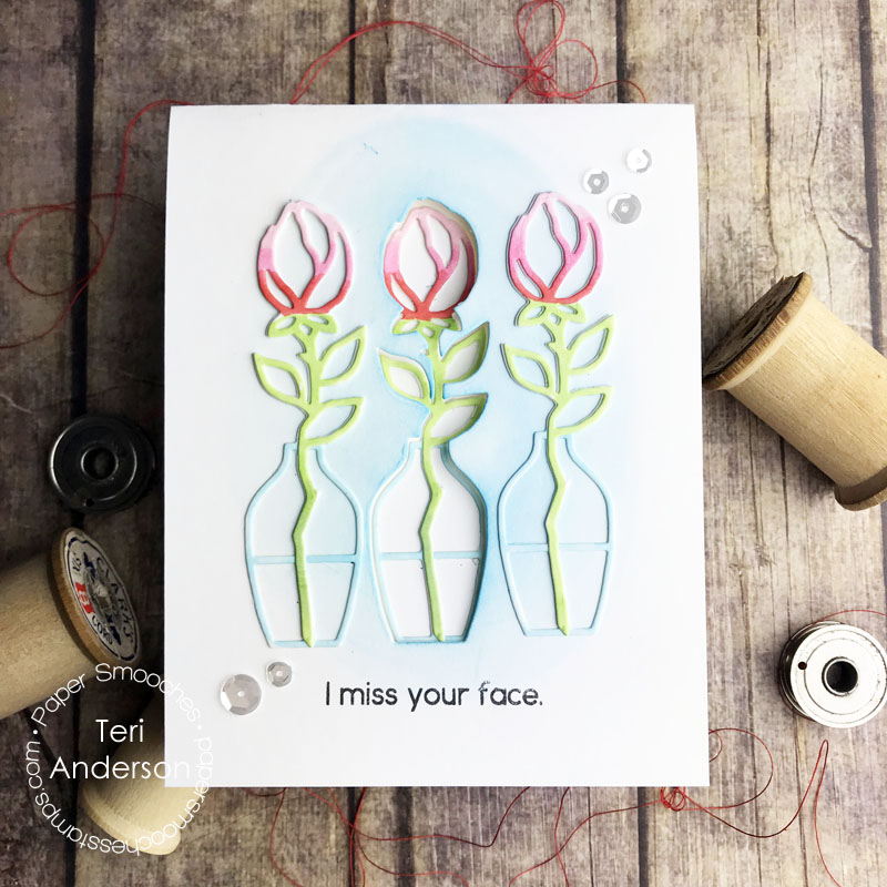 """A handmade """"Missing You"""" card by Teri 