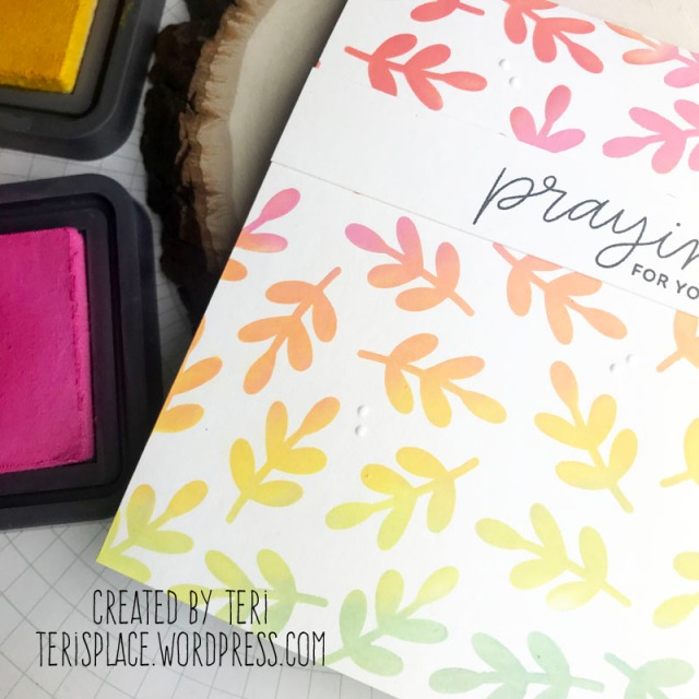 A handmade card by Teri | terisplace,wordpress,com | sympathy