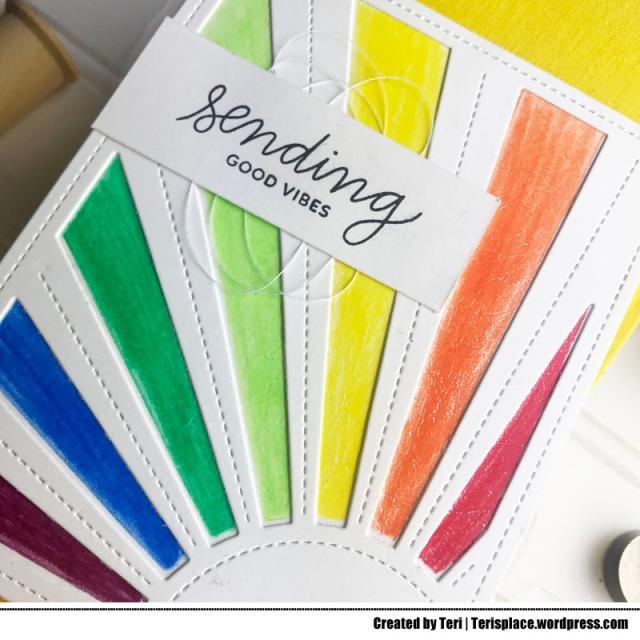 A rainbow card created by Teri | terisplace.wordpress.com