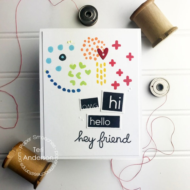 A friendship card by Teri | created with Paper Smooches stamps