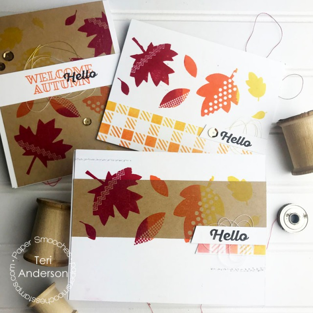 Stamped Fall leaf cards by Teri | Terisplace.wordpress.com