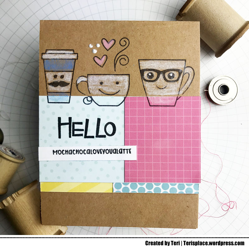 A stamped coffee card by Teri | terisplace.wordpress.com
