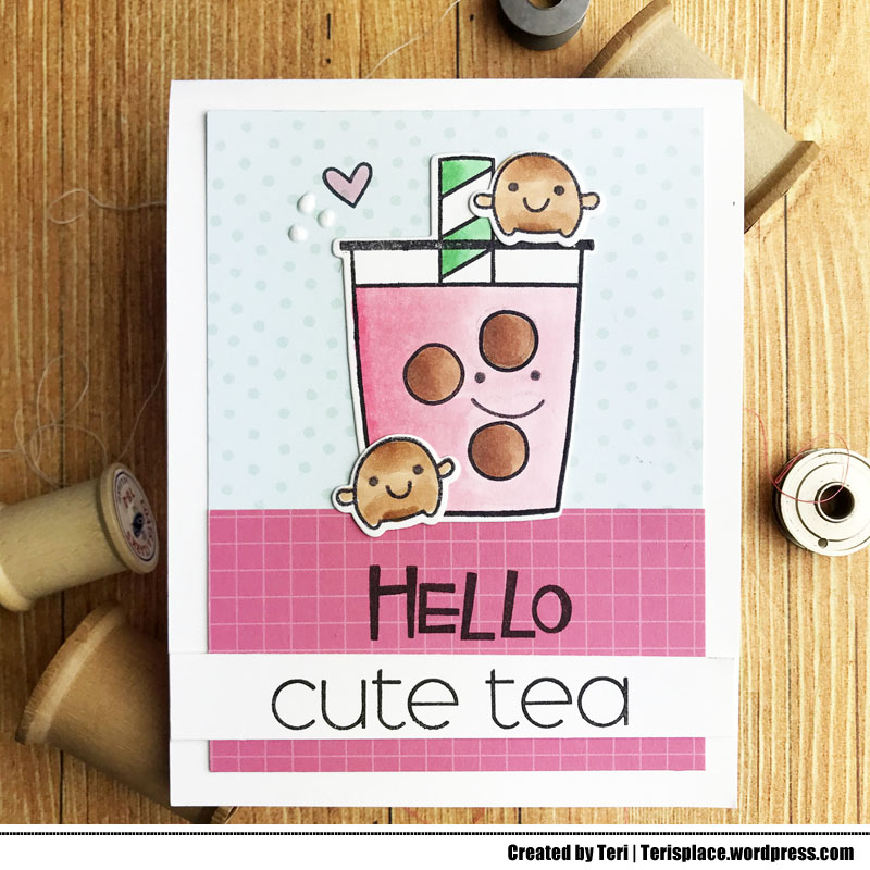 Boba Tea Card by Teri | terisplace.wordpress.com