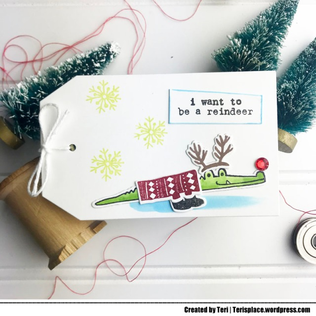 A funny Christmas tag by Teri - terisplace.wordpress.com