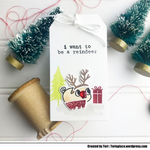 A silly Christmas tag by Teri - terisplace.wordpress.com