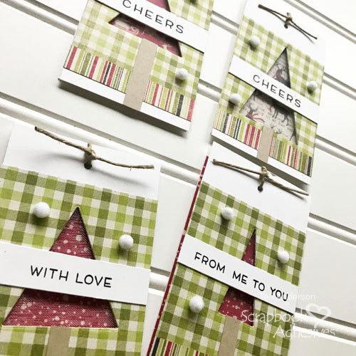 Christmas Tree Window Tags by Teri for Scrapbook Adhesives by 3L