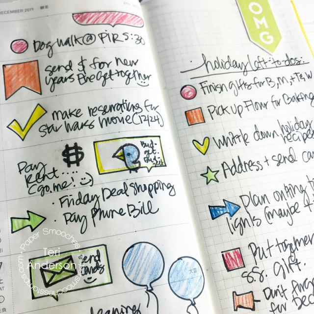 Planner pages decorated by Teri | terisplace,wordpress.com