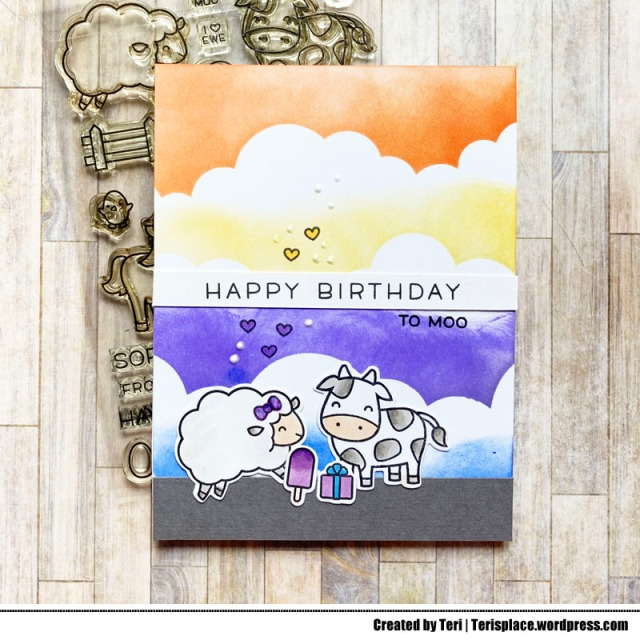 A stamped birthday card by Teri | terisplace.wordpress.com